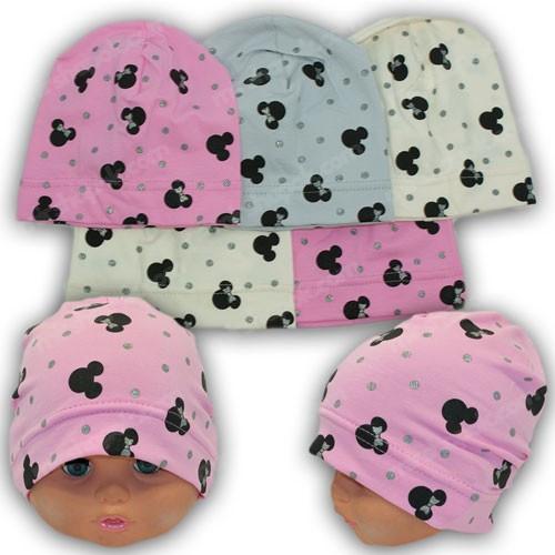 Трикотажные шапочки для новорожденных