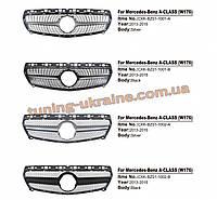 Передняя решетка Diamond на Mercedes A-klass W176 2012-2015 гг