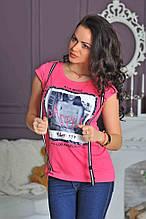 Стильна футболка з підтяжками