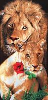 Пляжное полотенце Львы с розой
