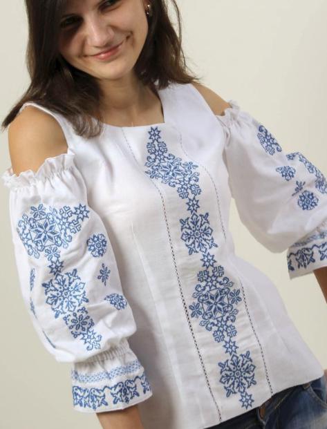 "Блуза - вышиванка ""Аура ночи"""