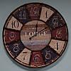 """Большие настенные часы """"Lodge"""" (60 см. мдф, металл)"""