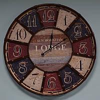 """Большие настенные часы """"Lodge"""" (60 см. мдф, металл), фото 1"""
