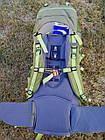 Рюкзак туристический 50 + 10 л Tramp Floki зеленый. Рюкзак туристический 60л., фото 9