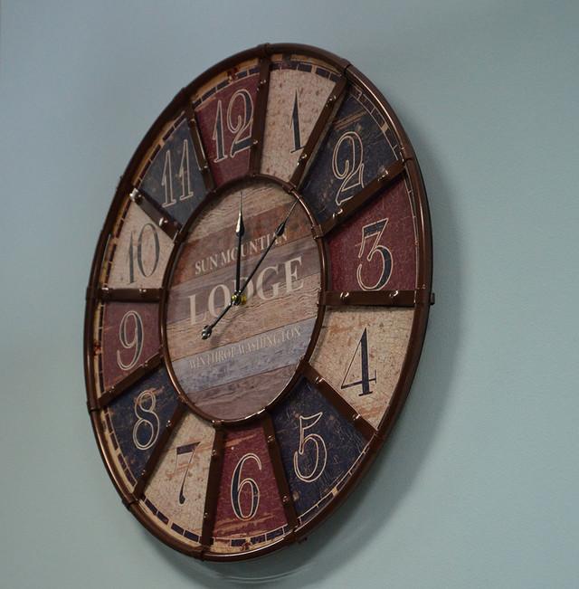 Большие настенные часы (60 см. мдф, металл)