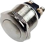 Кнопка живл. PBS-28B OFF-(ON) антивандальна металева без фіксації