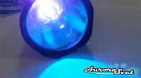 Фонарь POLICE УЛЬТРАФИОЛЕТ 360-365 нм. Мощный фонарь ультрафиолетовый. УФ фонарь.