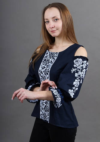 """Блуза - вышиванка """"Цветочная аура"""", фото 2"""