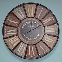 """Большие настенные часы """"Paris"""" (60 см. мдф, металл)"""