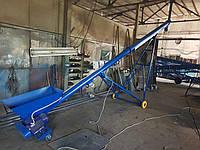 Шнековый винтовой конвейер (транспортёр) передвижной