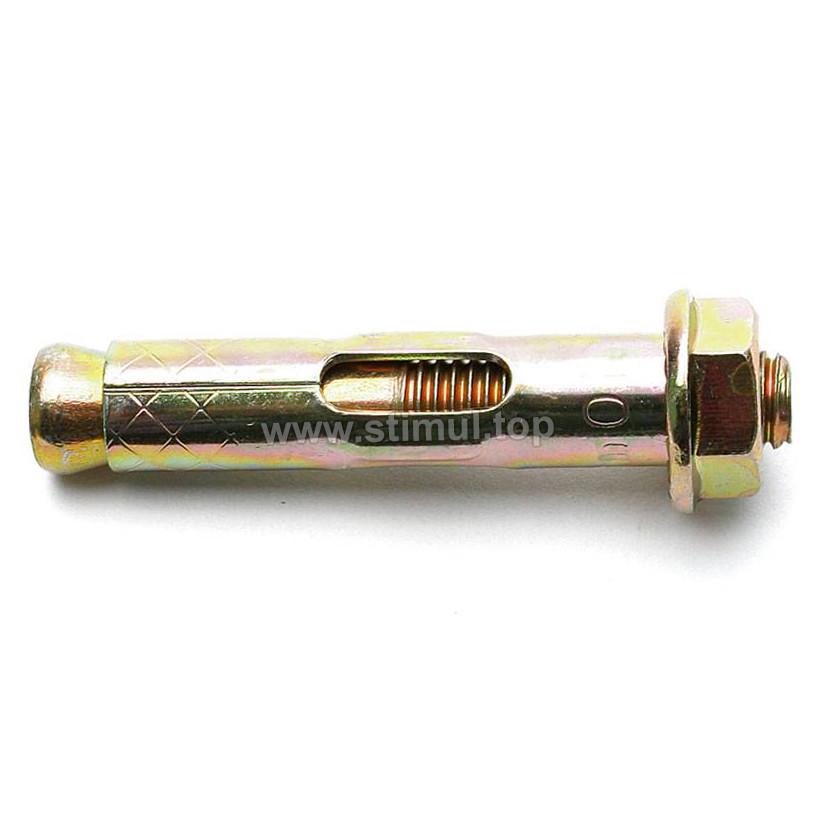 Анкерный болт с гайкой М8/10 х 100 распорный по бетону (под ключ)
