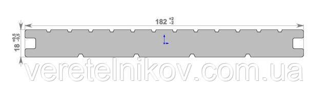 Террасная доска Массив HOLZDORF Brush (Хольцдорф Браш массив) 182×18х2400 мм.