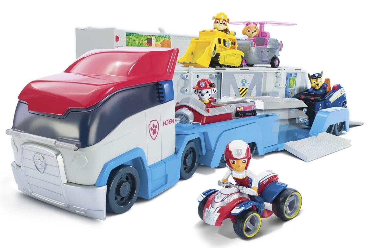 Ігровий набір Paw Patrol Щенячий патруль Транспортувальник для рятувальних автомобілів з фігуркою Райдера