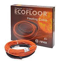 Тонкий кабель для монтажа без стяжки теплый пол Fenix ADSV10  1100W. Площадь укладки 6,9-9,2м2