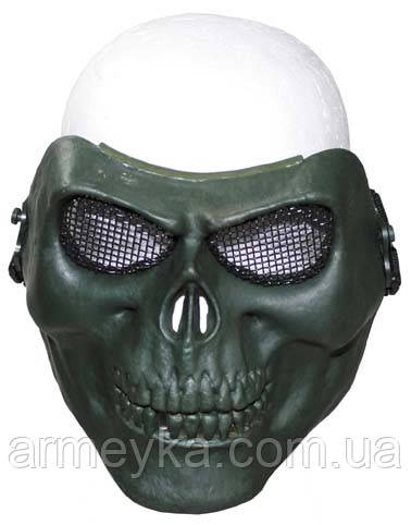 Маска защитная череп, олива
