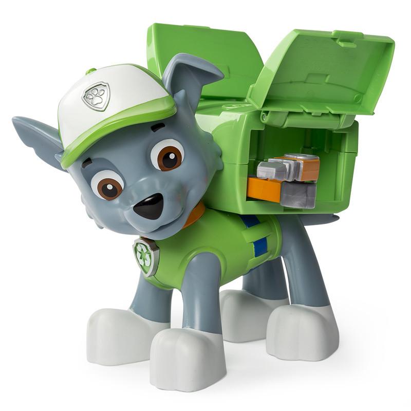 Большая фигурка щенка Рокки с механической функцией Paw Patrol (SM16622-4)