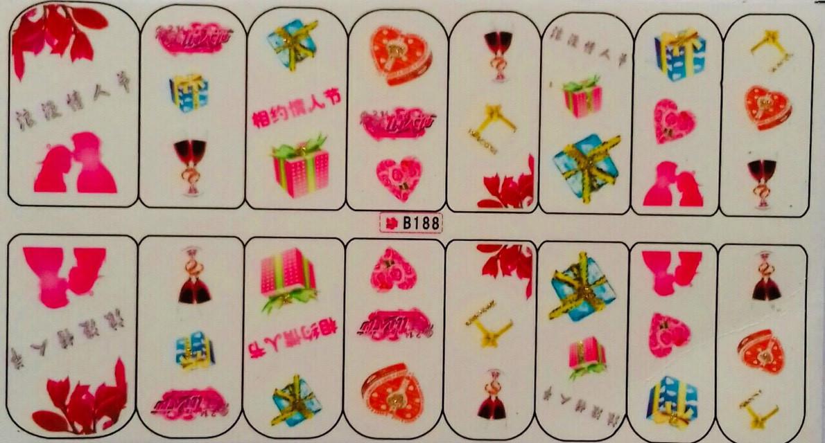 Слайдер-дизайн для ногтей  В-188