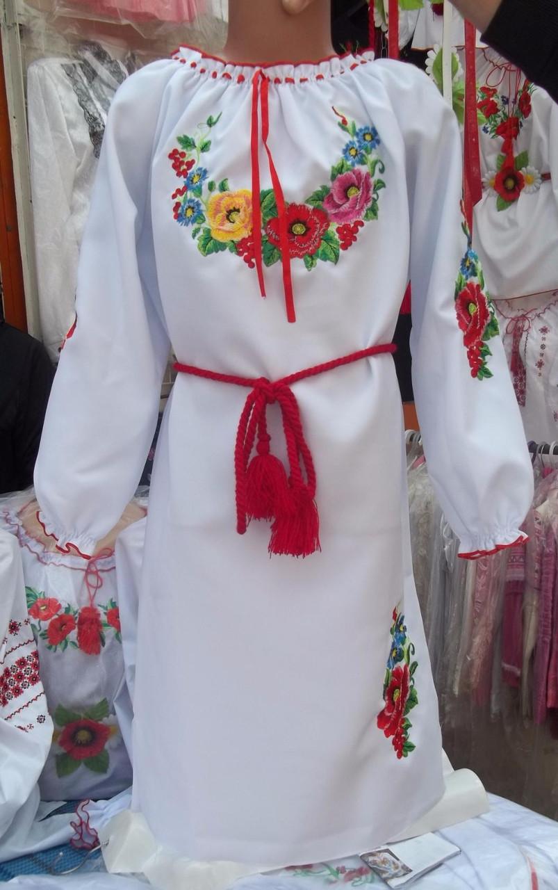 Платье вышитое детское