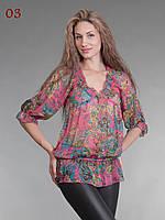 Блузка туника из шифона бордо, фото 1