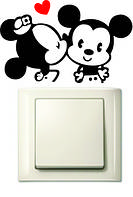 Наклейки на розетки и выключатели Mickey Mouse and Minnie