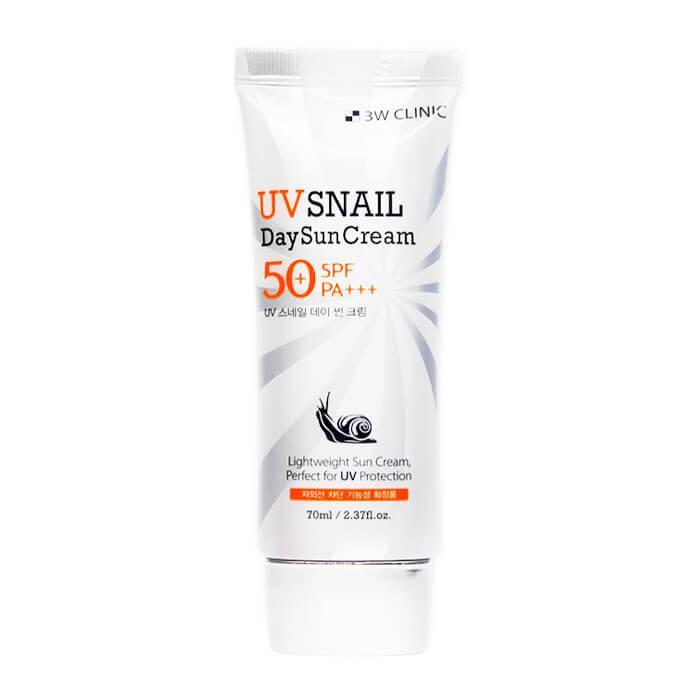 Солнцезащитный крем с улиткой 3W Clinic UV Snail Day Sun Cream SPF50+/PA+++