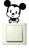 Наклейки на розетки и выключатели Mickey Mouse