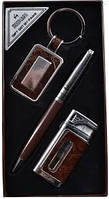 Подарочный набор брелок,ручка,зажигалка AL010,,подарочный мужской набор 3 в 1 :ручка, брелок, зажигалка