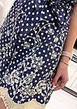 Женское джинсовое платье с поясом и с вышивкой, фото 4