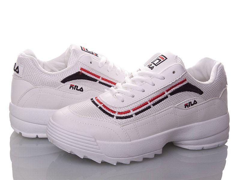 Fila Disruptor Белые с полосой и сеткой кроссовки | точная Копия | женские размеры: 36 - 41