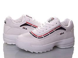 Fila Disruptor Білі з смугою і сіткою кросівки | точна Копія | жіночі