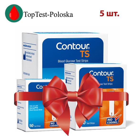 Тест-полоски  Contour TS №50 5 упаковок (Контур ТС)