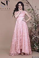 Роскошное вечернее платье с асимметричным подолом размеры S-L, фото 2