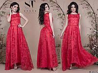 Роскошное вечернее платье с асимметричным подолом размеры S-L, фото 4