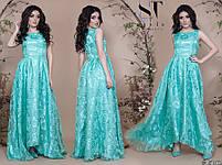 Роскошное вечернее платье с асимметричным подолом размеры S-L, фото 5