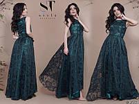 Роскошное вечернее платье с асимметричным подолом размеры S-L, фото 7