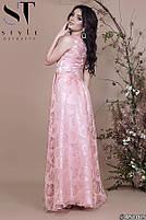 Роскошное вечернее платье с асимметричным подолом размеры S-L, фото 3
