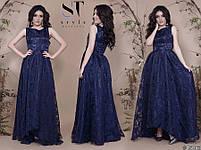 Роскошное вечернее платье с асимметричным подолом размеры S-L, фото 8