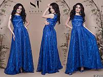 Роскошное вечернее платье с асимметричным подолом размеры S-L, фото 9