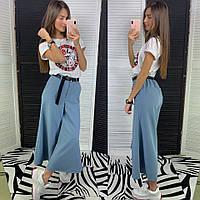 Женские модные брюки-кюлоты (в расцветках)