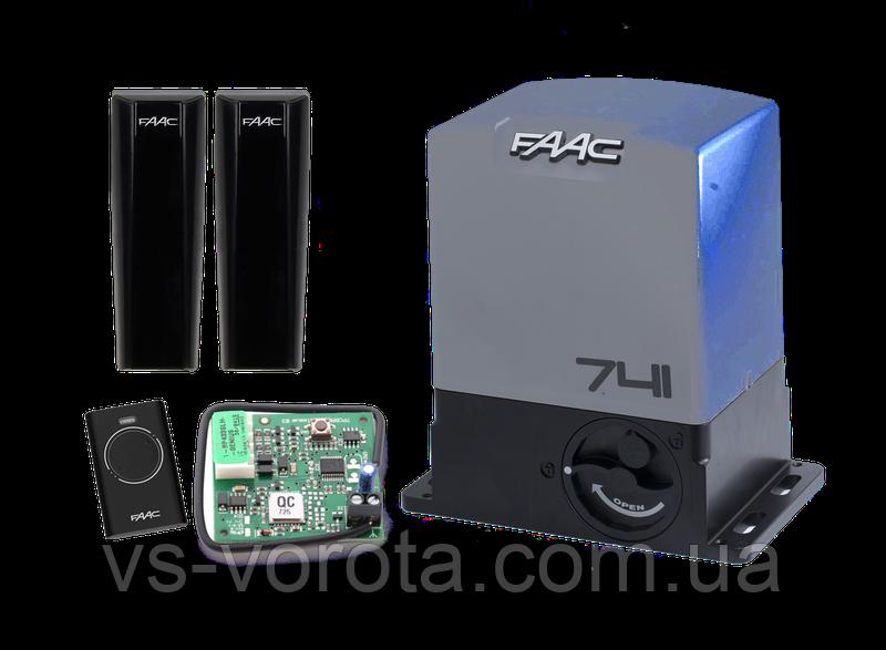 FAAC 741 весом до 900 кг Комплект автоматики для откатных ворот