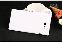 Чехол накладка бампер для Sony Xperia M2 D2305 D2302 белый
