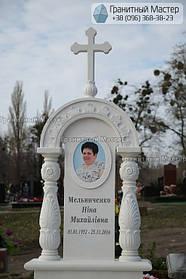 Памятник женщине из белого мрамора в Киеве, Совское кладбище 2