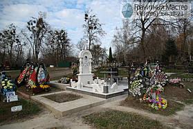 Памятник женщине из белого мрамора в Киеве, Совское кладбище 6
