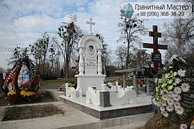 Памятник женщине из белого мрамора в Киеве, Совское кладбище 13
