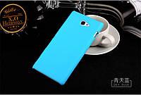 Чехол накладка бампер для Sony Xperia M2 D2305 D2302 голубой