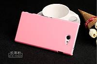 Чехол накладка бампер для Sony Xperia M2 D2305 D2302 розовый