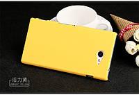 Чехол накладка бампер для Sony Xperia M2 D2305 D2302 жёлтый