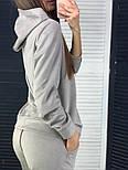 Женский стильный замшевый костюм с капюшоном (в расцветках), фото 2