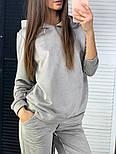 Женский стильный замшевый костюм с капюшоном (в расцветках), фото 3