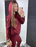 Женский стильный замшевый костюм с капюшоном (в расцветках), фото 4